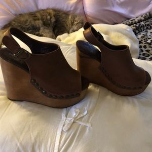 High wedge shoes size 9